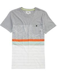 graues horizontal gestreiftes T-shirt