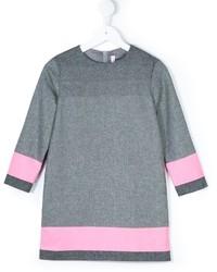 graues horizontal gestreiftes Wollkleid von Il Gufo