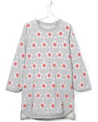 graues Kleid mit Sternenmuster von Stella McCartney