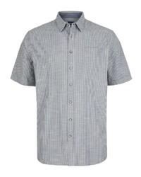 graues Kurzarmhemd von Big fashion