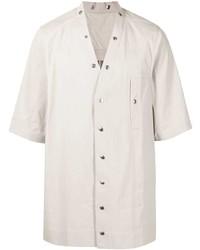 graues Kurzarmhemd von Rick Owens