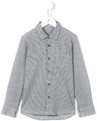 graues Langarmhemd mit Karomuster