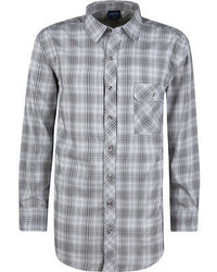 graues Langarmhemd mit Schottenmuster