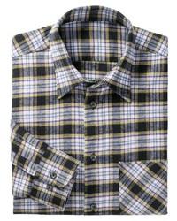 graues Langarmhemd mit Schottenmuster von Classic
