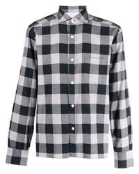 graues Langarmhemd mit Vichy-Muster von Eleventy