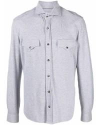 graues Langarmhemd von Brunello Cucinelli