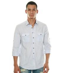graues Langarmhemd von FIOCEO