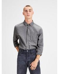 graues Langarmhemd von Jack & Jones