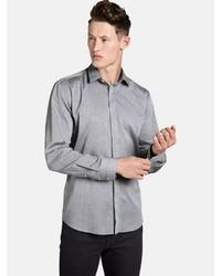 graues Langarmhemd von SHIRTMASTER