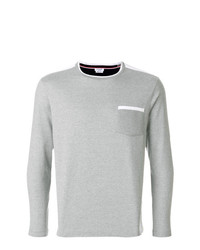 graues Langarmshirt von Thom Browne