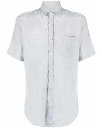 graues Leinen Kurzarmhemd von Canali