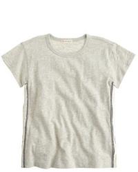 graues Paillette T-shirt