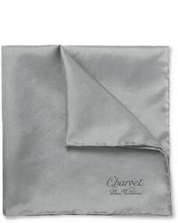graues Seide Einstecktuch von Charvet