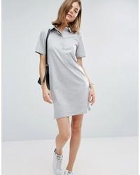 graues Shirtkleid von Asos