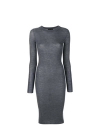graues Strick figurbetontes Kleid von Cashmere In Love