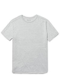 graues Strick T-Shirt mit einem Rundhalsausschnitt