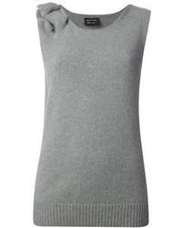 graues Strick Trägershirt von Lanvin
