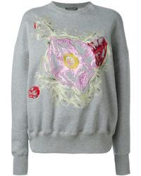 graues Sweatshirt mit Blumenmuster von Alexander McQueen