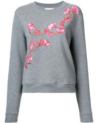 graues Sweatshirt mit Blumenmuster von Carven