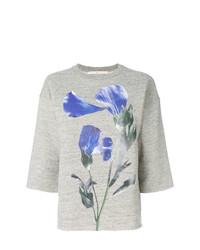 graues Sweatshirt mit Blumenmuster von Golden Goose Deluxe Brand