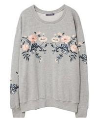 graues Sweatshirt von Mango