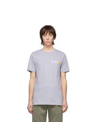 graues T-Shirt mit einem Rundhalsausschnitt von A.P.C.