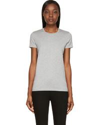 graues T-Shirt mit einem Rundhalsausschnitt von Acne Studios