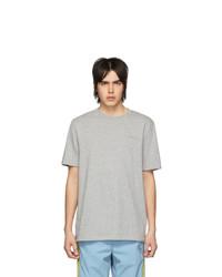 graues T-Shirt mit einem Rundhalsausschnitt von Aimé Leon Dore