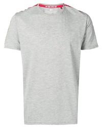 graues T-Shirt mit einem Rundhalsausschnitt von Alpha Industries