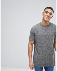 graues T-Shirt mit einem Rundhalsausschnitt von ASOS DESIGN