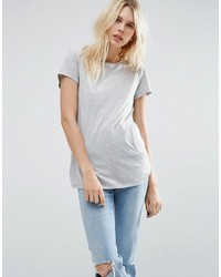 graues T-Shirt mit einem Rundhalsausschnitt von Asos