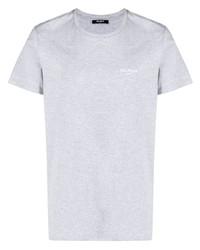 graues T-Shirt mit einem Rundhalsausschnitt von Balmain