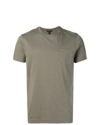 graues T-Shirt mit einem Rundhalsausschnitt von Belstaff