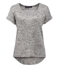 graues T-Shirt mit einem Rundhalsausschnitt von BLUE MONKEY