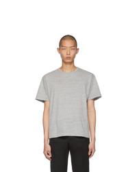 graues T-Shirt mit einem Rundhalsausschnitt von Bottega Veneta
