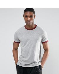 graues T-Shirt mit einem Rundhalsausschnitt von Brave Soul