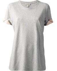 graues T-Shirt mit einem Rundhalsausschnitt von Burberry