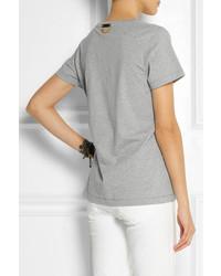 graues T-Shirt mit einem Rundhalsausschnitt von Sophie Hulme