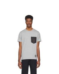 graues T-Shirt mit einem Rundhalsausschnitt von Coach 1941