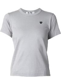 graues T-Shirt mit einem Rundhalsausschnitt von Comme des Garcons