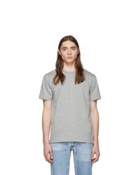 graues T-Shirt mit einem Rundhalsausschnitt von Comme Des Garcons Play