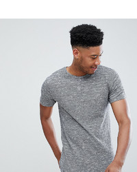 graues T-Shirt mit einem Rundhalsausschnitt von D-struct