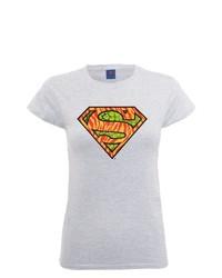 graues T-Shirt mit einem Rundhalsausschnitt von DC Universe