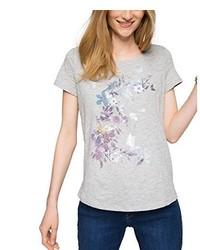 graues T-Shirt mit einem Rundhalsausschnitt von Esprit