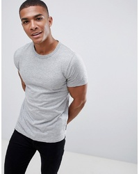 graues T-Shirt mit einem Rundhalsausschnitt von French Connection