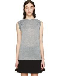 graues T-Shirt mit einem Rundhalsausschnitt von Isabel Marant