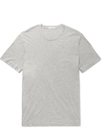 graues T-Shirt mit einem Rundhalsausschnitt von James Perse