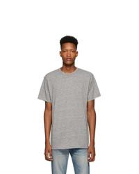 graues T-Shirt mit einem Rundhalsausschnitt von John Elliott