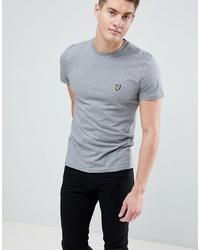 graues T-Shirt mit einem Rundhalsausschnitt von Lyle & Scott