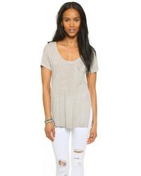 graues T-Shirt mit einem Rundhalsausschnitt von Madewell